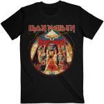 Iron Maiden: Unisex Tee/Powerslave Lightning Circle (Large)