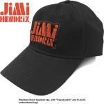 Jimi Hendrix: Unisex Baseball Cap/Orange Stencil Logo