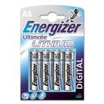 ENERGIZER Batteri AA/LR6 Ultimate Lithium 4-pack