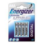 ENERGIZER Batteri AAA/LR03 Ultimate Lithium 4-pack
