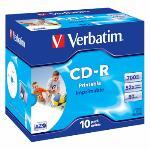 CD-R Verbatim AZO 52x 10p 700MB, JC, Printable