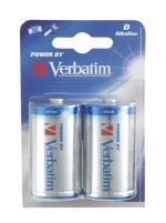Verbatim D Alkaline Batteri, (LR20) 2-pack