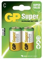 Batteri GP Super Alkaline Size C, LR14, 1.5V (2p)