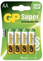 Batteri GP Super Alkaline Size AA, LR6, 1.5V (4p)