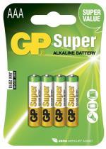 Batteri GP Super Alkaline Size AAA, LR03, 1.5V (4p)