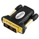 HDMI-adapter, HDMI 19-pin hona till DVI-D hane, guldpläterad