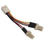 Adapter för 3-pins fläktar Y-kabel 2-1