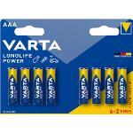 Varta Alkaliska Batterier AAA 1.5 V High Energy 8-PR Blister