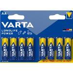 Varta Alkaliska Batterier AA 1.5 V High Energy 8-PR Blister