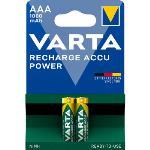 Varta Laddningsbara NiMH-batteri AAA 1.2 V 1000 mAh 2-Blister