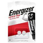 Energizer Alkaliska Batterier LR43 1.5 V 2-Blister