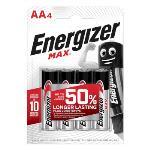 ENERGIZER Batteri AA/LR6 Max 4-pack