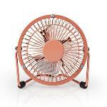 Nedis Bords fläkt | USB ström | Diameter: 100 mm | 3 W | 1-Hastighet | Vintage Rosa