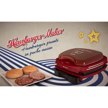 Ariete Vintage / Hamburger maker / Röd