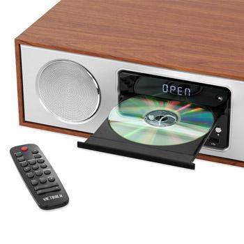 Victrola Bluetooth- & CD-stereo / Mahogny
