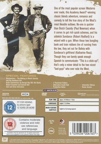 Butch Cassidy & Sundance Kid (Ej svensk text)