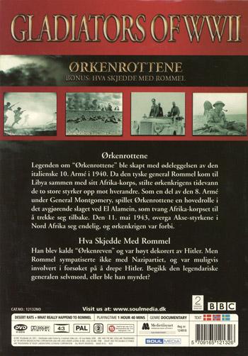 Gladiators of WWII / Ökenråttorna(Norskt omslag)