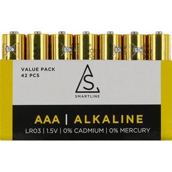 Batterier Alkaliska Proove AAA LR03 1,5V 42-pack