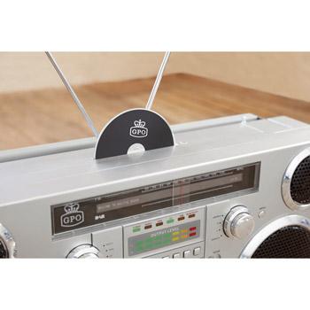 GPO Brooklyn Boombox Retro Ghettoblaster USB+BT