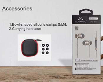 Hörlur In-Ear SoundMAGIC e11C med mikrofon