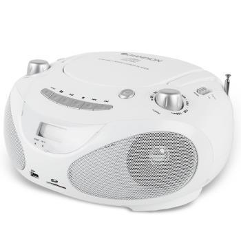 Champion: Boombox CD/Radio/MP3/USB White