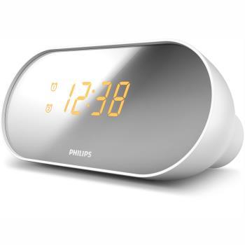 Philips: Klockradio Spegelfinish-skärm