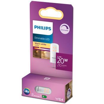 Philips: LED G4 20W (2,1W) 12V 210lm Dimbar Varmvit