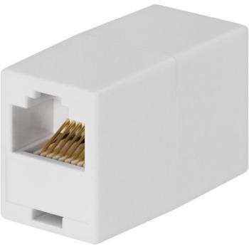 Modularskarvdon (TP-kabel) RJ45 Vit