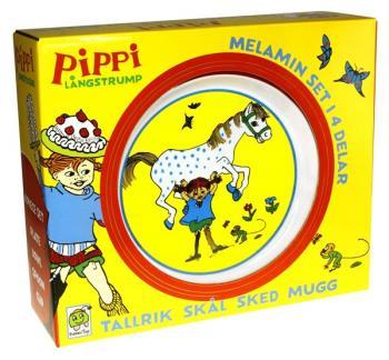 Pippi Melamin gift box - 4 pcs