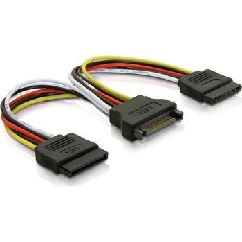 Adapter Y 15-pin SATA 2 hårddiskar 10cm