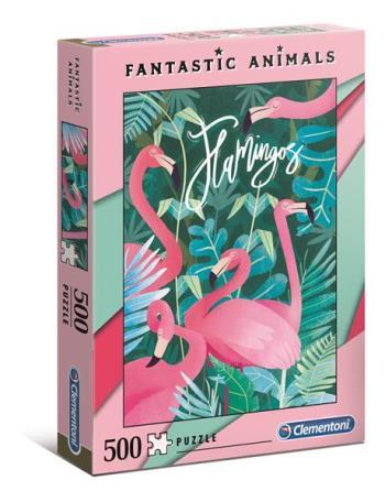 500 pcs. Fantastic Animals Flamingo