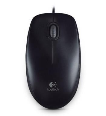 Mus Log. B100, Optical Mouse, Black