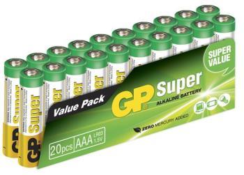 GP Super Alkaline Battery, Size AAA, LR03, 1.5V, 20-pack