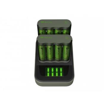 GP ReCyko Speed Battery Charger, M451 (USB), 2-pack + Dock D851, incl. 8 x AA 2600 mAh Batteries