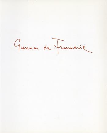 Gunnar de Frumerie/Vänner berät.