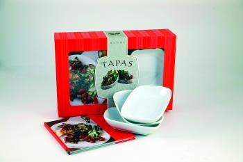 Tapas - Startpaket Med Receptbok, 3 Skålar