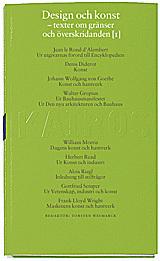 Design Och Konst D. 1 - Texter Före 1960 - Skriftserien Kairos Nr 8-1