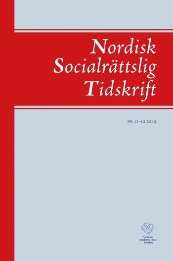 Nordisk Socialrättslig Tidskrift 11-12 (2015)