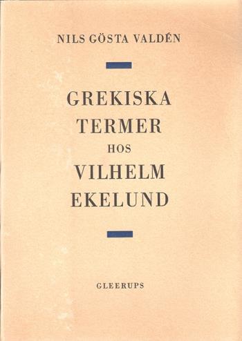 Grekiska Termer Hos Vilhelm Ekelund