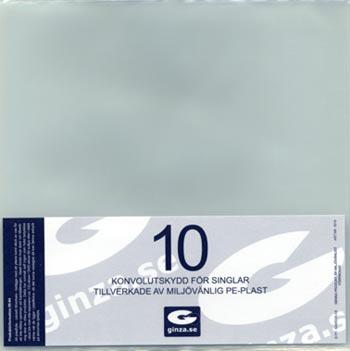 Skyddsplast för Single-skivor/vinyl  10-pack