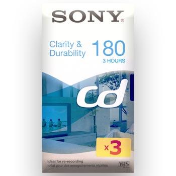 VHS-band Sony CD-180 (VHS/3-tim) 3-pack