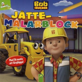 Byggar Bob - Jättemålarblock Med 56 Motiv Att Färglägga!