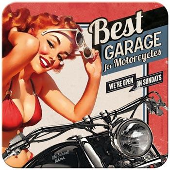 Glasunderlägg Retro / Best garage - Red