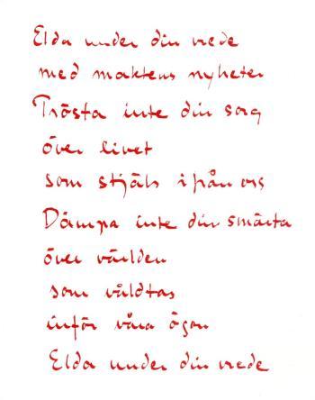 Dikt I Rörelse - Ingrid Sjöstrand Och Poesins Retorik I Kvinnornas Fredsrörelse 1979-1982