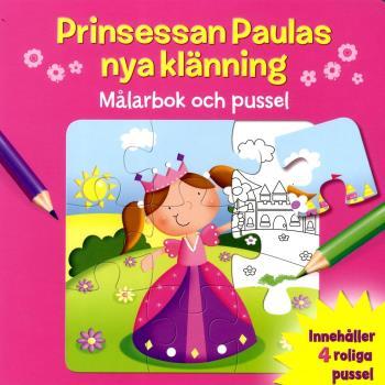 Prinsessan Paulas Nya Klänning - Målarbok Och Pussel