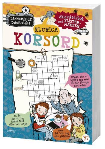 Kluriga Korsord - Aktivitetsbok Med Klistermärken