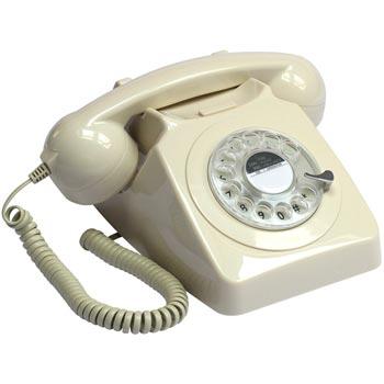 Telefon / Bordstelefon GPO 746 Vit