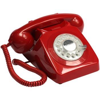 Telefon / Bordstelefon GPO 746 Röd