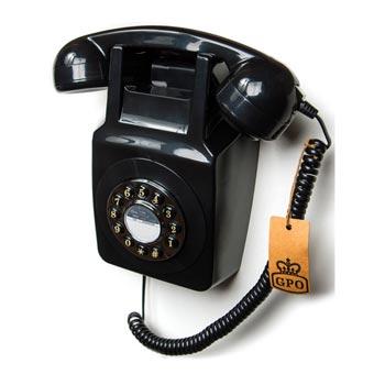 Telefon / Väggtelefon GPO 746 Svart