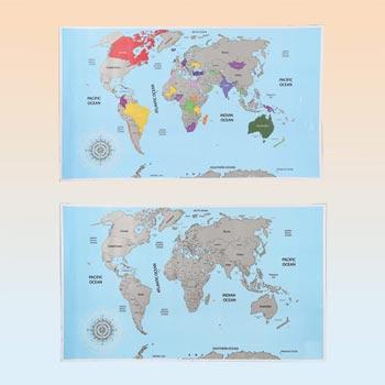 Världskarta Skrapbar